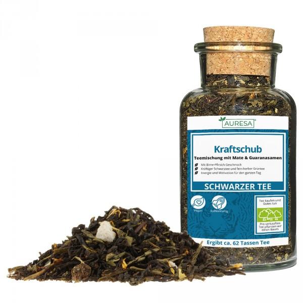 Mélange de thé en vrac Kraftschub dans le verre